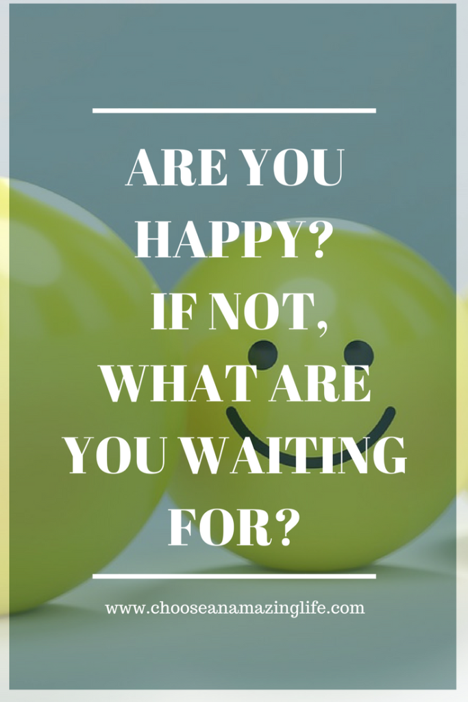 Are you happy? For years I claimed that I would be happy when I finally reached my goal size (my pre-pregnancy weight) and the lessons I have learned from that experience have really opened my eyes- click here to find out what you can do to feel happy now!
