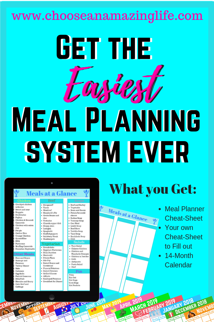Do you struggle with figuring out what is for dinner? For years I would stare at my fridge and freezer not being able to figure out what to make. I have finally cracked the code on meal planning and really want to help my fellow moms out! Get your free cheat-sheet here!