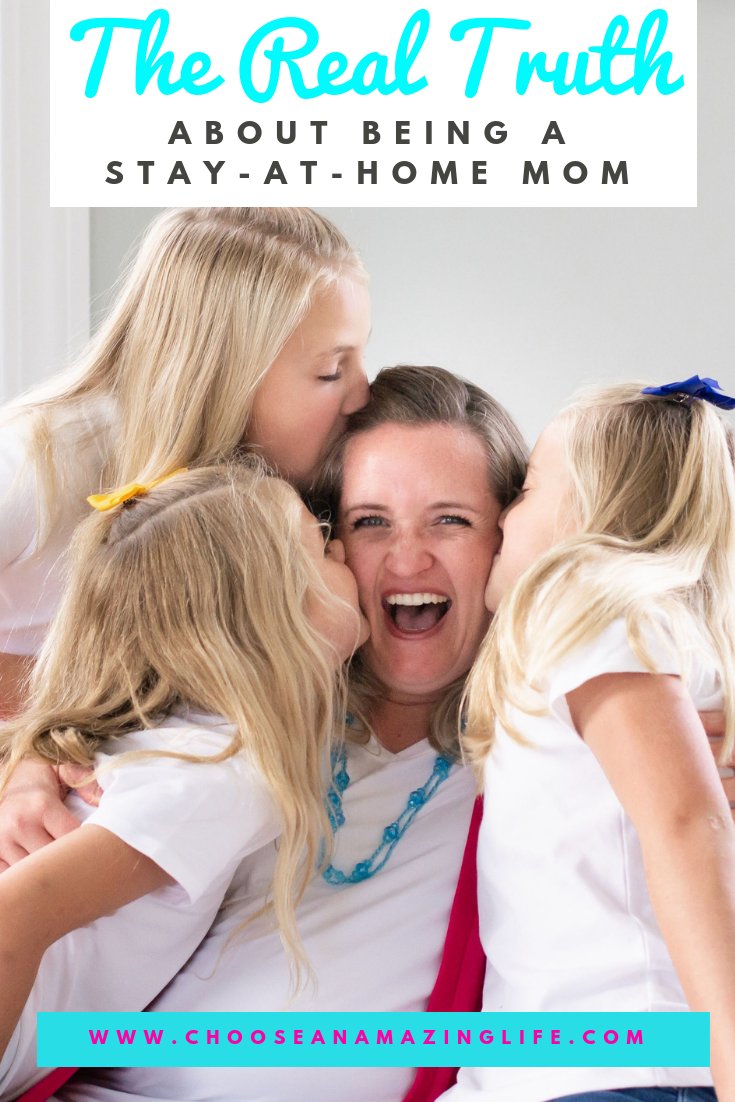 "Are you a stay-at-home mom? Do you ever get asked, ""What do you do all day?"" or hear someone say, ""You have it easy.""? There are so many things that no one is talking about when it comes to the reality of being a stay-at-home mom!"
