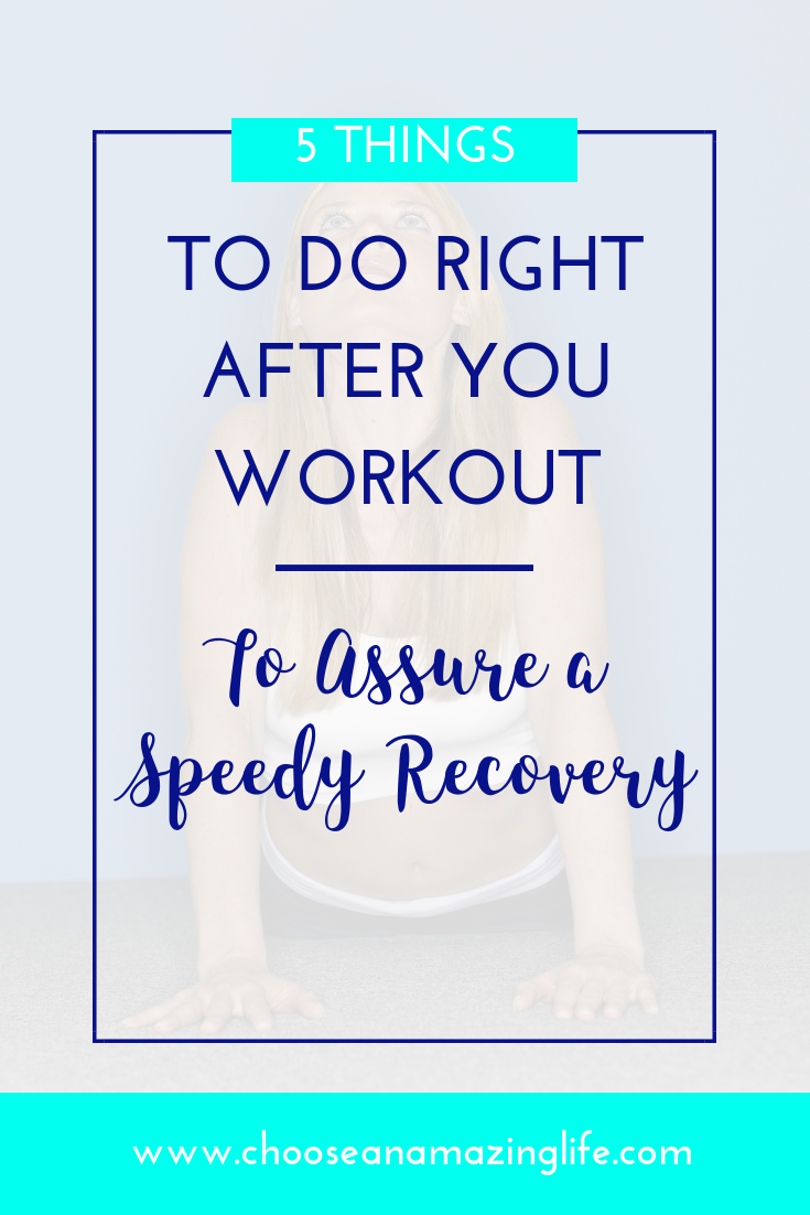 After working out, it is crucial to do these 5 things to recover.