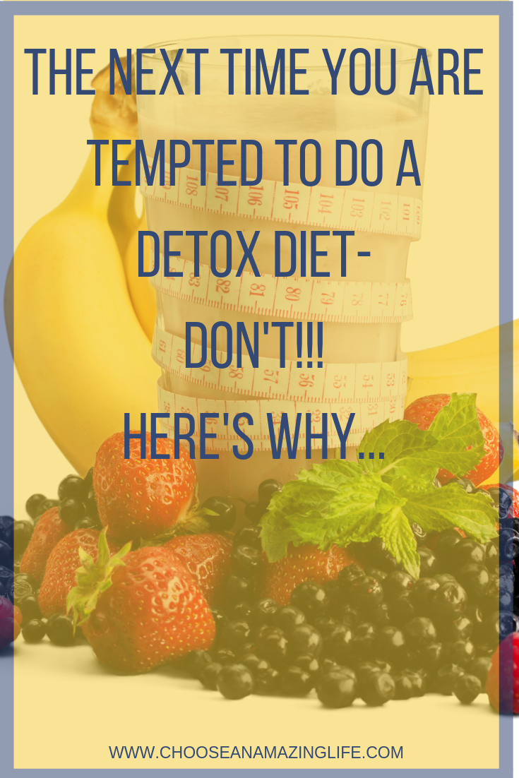 Detox diets are a hot trend right now and there are many people out there making a pretty profit off of our insecurities. But do the detoxes really work?