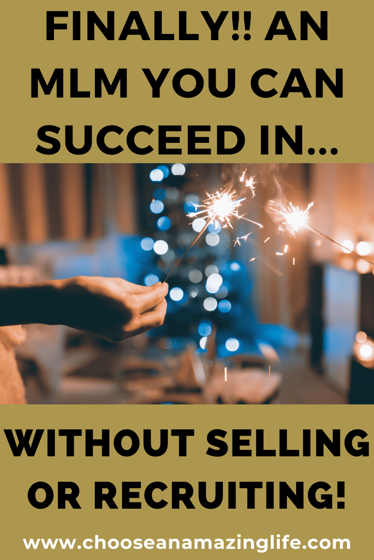 Want to make money with an mlm but feel like you can't sell or recruit? You're going to want to check this out!