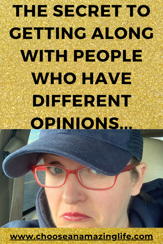 Do you know someone with really strong opinions? Do you have a hard time accepting people who see things differently than you? Why Can't We All Just Get Along? Here is a little analogy to help us get along